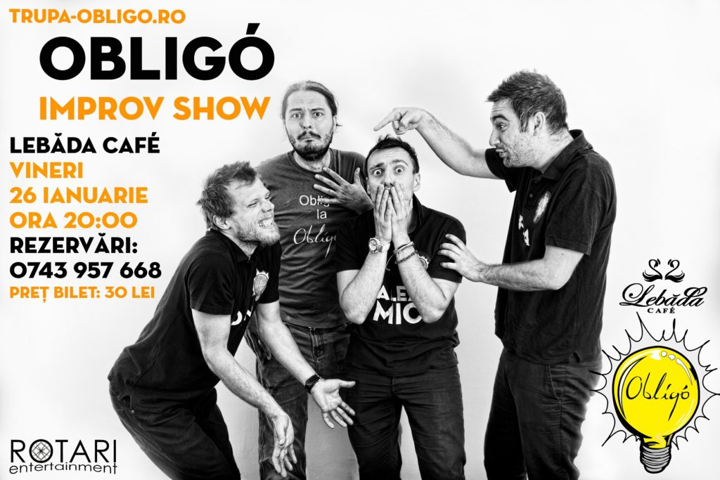 Improvisation Show cu Trupa Obligo, la Lebăda Cafe Bârlad