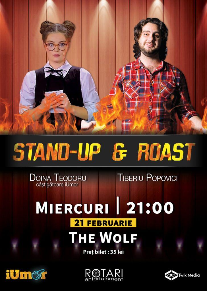 Spectacol de Stand Up & Roast cu Doina Teodoru și Tiberiu Popovici, la The Wolf Pub Sibiu