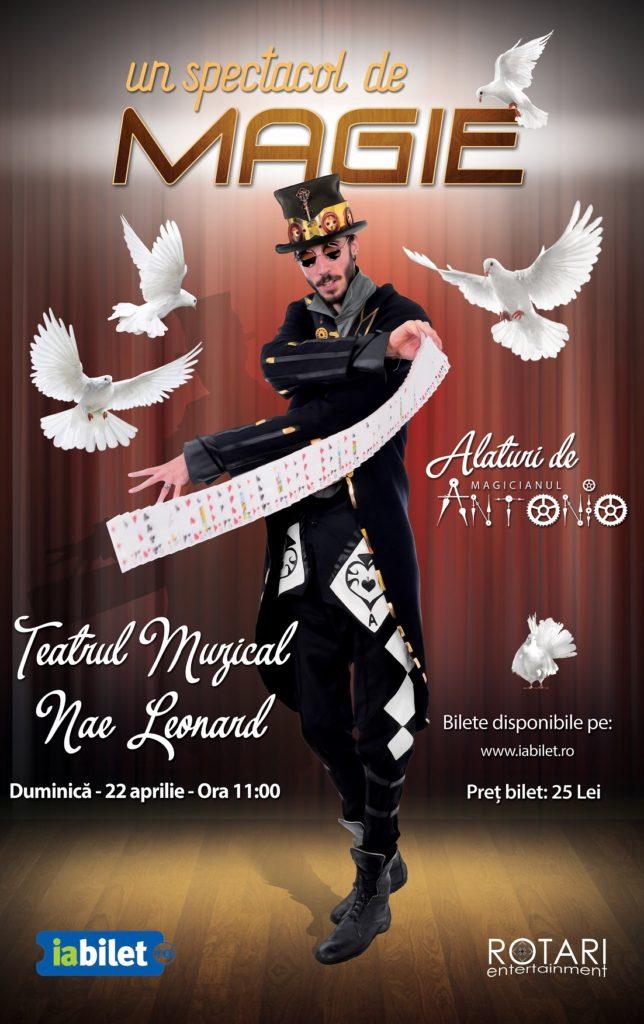 Spectacol de Magie cu Magicianul Antonio, la Teatrul Muzical Nae Leonard Galați