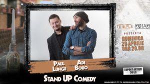 Spectacolul Magic and Comedy Show cu Adi Bobo și Paul Lungu, la The Temple Social Pub