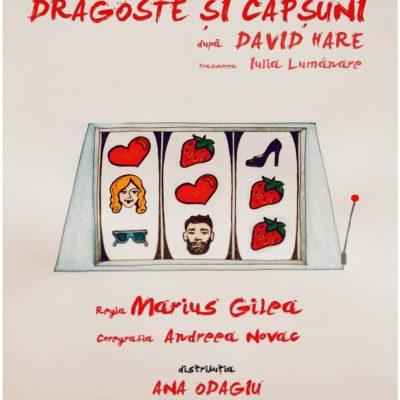 Piesa de teatru Dragoste și căpșuni de David Hare, în regia lui Marius Gîlea, cu Ana Odagiu și Alex Zob