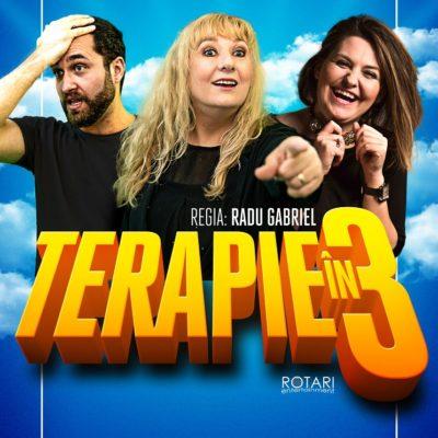 Piesa de teatru Terapie în 3 în regia lui Radu Gabriel, cu Luminița Bucur, Maria Radu și Oleg Apostol