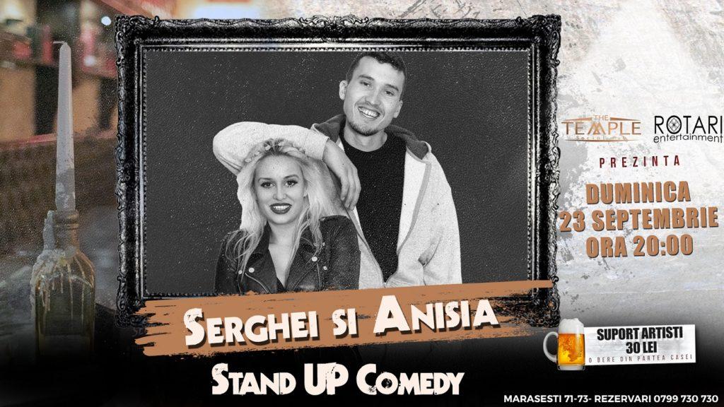 Spectacol de Stand Up Comedy cu Serghei și Anisia la The Temple Social Pub