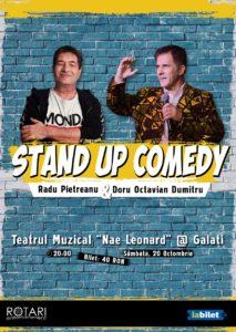 Spectacol de Stand Up Comedy cu Doru Octavian Dumitru și Radu Pietreanu, la Teatrul Muzical Nae Leonard din Galați