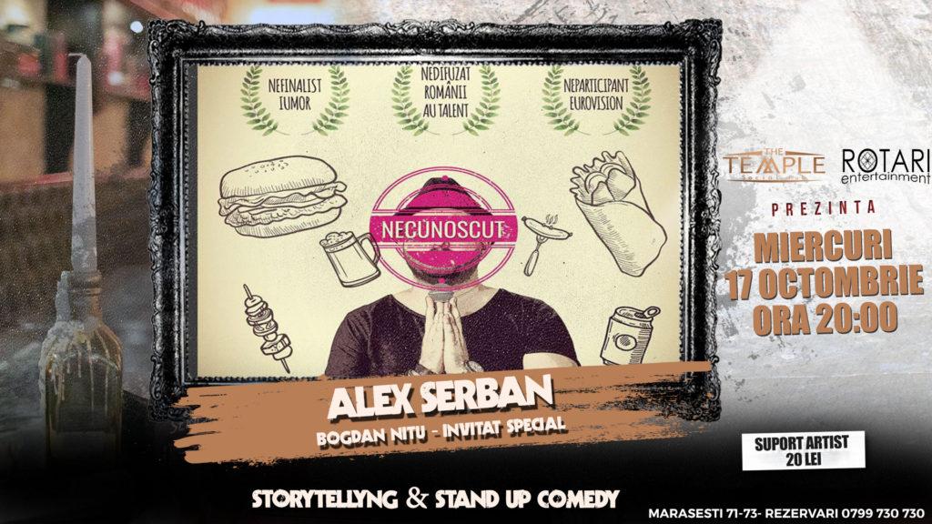 Spectacolul de Stand Up Comedy Necunoscut cu Alex Șerban și Bogdan Nițu, la The Temple Social Pub