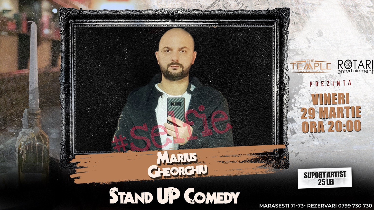 Spectacol de Stand Up Comedy cu Marius Gheorghiu, la The Temple Social Pub