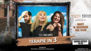 Piesa de teatru Terapie în 3, cu Luminița Bucur, Maria Radu și Oleg Apostol, la The Temple Social Pub