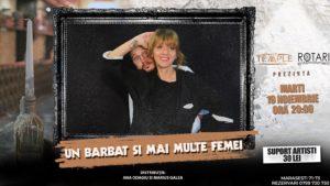 Piesa de teatru Un bărbat și mai multe femei cu Ana Odagiu și Marius Gîlea, la The Temple Social Pub
