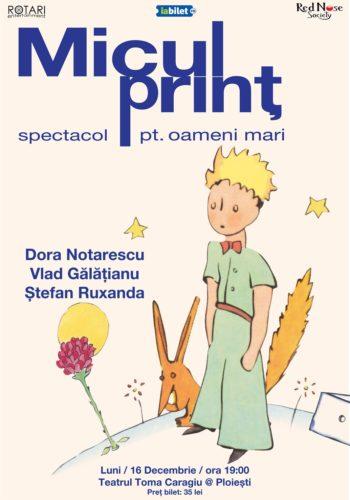 Piesa de teatru Micul Prinț cu Dora Notărescu, Vlad Gălățianu și Ștefan Ruxanda, la Teatrul Toma Caragiu din Ploiești