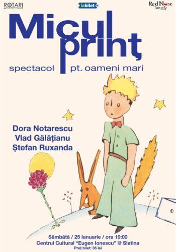 Piesa de teatru Micul Prinț cu Dora Notărescu, Vlad Gălățianu și Ștefan Ruxanda, la Centrul Cultural Eugen Ionescu din Slatina