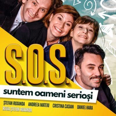 Piesa de teatru Suntem oameni serioși în regia lui Ștefan Ruxanda, cu Andreea Mateiu, Cristina Casian, Daniel Hara și Ștefan Ruxanda