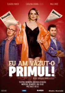 Eu am văzut-o primul în regia lui Bogdan Drăgulescu, cu Claudiu Maier, Cătălina Grama și Paul Ipate, la Teatrul Municipal Bacovia din Bacău