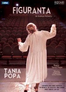 Piesa de teatru Figuranta de Andreas Petrescu, cu Tania Popa, la Grădina de Vară din Neptun