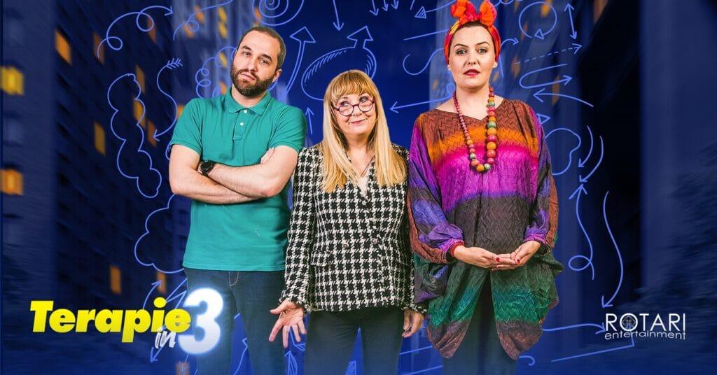 Piesa De Teatru Terapie în 3 Cu Luminița Bucur, Maria Radu și Oleg Apostol Cover